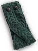 Merino Buttoned Headband - Connemara Green