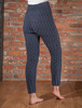 Wool Cashmere Aran Cable Leggings - Navy