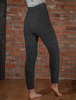 Wool Cashmere Aran Cable Leggings - Charcoal