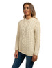Rope Cable Crew Aran Sweater - Natural White