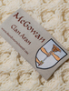 Mc Gowan Clan Aran Throw - Label