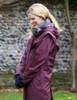 Skellig Ladies Waterproof 3/4 Coat - Blackberry