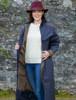 Donegal Ladies Waterproof Full Length Coat - Navy