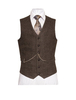 Oscar Wilde Single Breast Brown Tweed Waistcoat