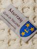 Murray Clan Aran Baby Blanket - Label