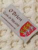 O'Brien Clan Aran Baby Blanket - Label