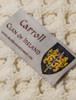 Carroll Clan Aran Baby Blanket - Label
