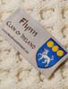 Flynn Clan Aran Baby Blanket - Label