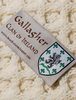Gallagher Clan Aran Baby Blanket - Label