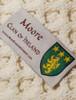 Moore Clan Aran Baby Blanket - Label
