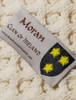 Moran Clan Aran Baby Blanket - Label