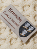 Kennedy Clan Aran Poncho - Label