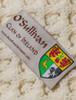 O'Sullivan Clan Aran Baby Blanket - Label