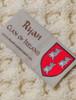 Ryan Clan Aran Baby Blanket - Label