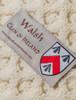 Walsh Clan Aran Baby Blanket - Label