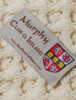 Murphy Clan Aran Bed Runner - Label