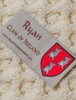 Ryan Clan Aran Bed Runner - Label