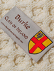 Burke Clan Aran Bed Runner - Label