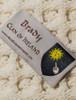 Brady Clan Aran Poncho - Label