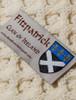 Fitzpatrick Clan Aran Poncho - Label