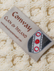 Conway Clan Aran Poncho Button - Label