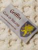 Griffin Clan Aran Poncho - Label