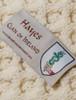 Hayes Clan Aran Poncho - Label