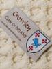 Crowley Clan Aran Poncho - Label