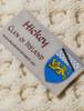 Hickey Clan Aran Poncho - Label