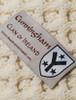 Cunningham Clan Aran Poncho - Label