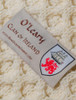 O'Leary Clan Aran Poncho - Label