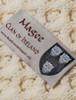 Magee Clan Aran Poncho - Label