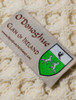 O'Donoghue Clan Aran Poncho - Label