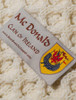 Mc Donald Clan Aran Poncho - Label