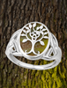 SILVER CONNEMARA MARBLE TREE OF LIFE RING