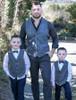 Boys Grey Herringbone Irish Tweed Waistcoat