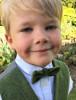 Boys Palm Green Herringbone Irish Tweed Bow-Tie