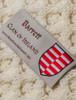 Barrett Clan Aran Bed Runner - Label