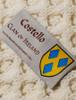 Costello Clan Aran Bed Runner - Label