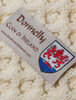 Donnelly Clan Aran Bed Runner - Label