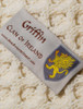 Griffin Clan Aran Bed Runner - Label