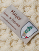 Hayes Clan Aran Bed Runner - Label