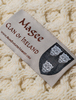 Magee Clan Aran Bed Runner - Label