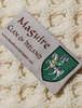 Maguire Clan Aran Bed Runner - Label