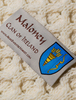 Maloney Clan Aran Bed Runner - Label