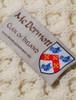 Mc Dermott Clan Aran Bed Runner - Label