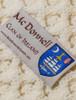 Mc Donnell Clan Aran Bed Runner  - Label