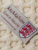 Mc Mahon Clan Aran Bed Runner - Label