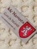 Mc Namara Clan Aran Bed Runner - Label