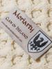 Moriarty Clan Aran Bed Runner - Label